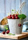 Summer fruits sour cherry still life Stock Photo