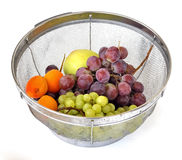 Summer fruits in a strainer Stock Image