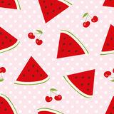 Summer fruits vector background Royalty Free Stock Photography