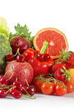 Summer fruits and vegetables Royalty Free Stock Photos