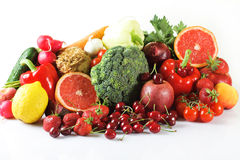 Summer fruits and vegetables Royalty Free Stock Photography
