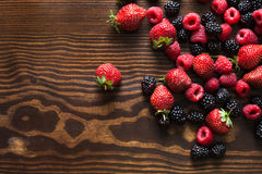 Summer fruits on a wooden table Royalty Free Stock Photography