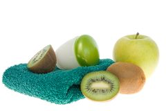 Summer fruity body care Stock Photography