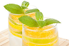 Summer fruity drink with ice Stock Image