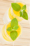 Summer fruity drink with ice Royalty Free Stock Image