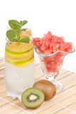 Summer fruity drink with ice Royalty Free Stock Photo