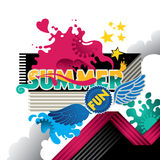 Summer fun. Designed abstract summer fun banner Stock Photography