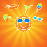 Summer fun background Stock Image