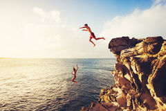 Summer Fun, Cliff Jumping Stock Photography
