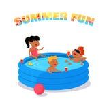 Summer Fun Concept Vector in Flat Design. Stock Photos