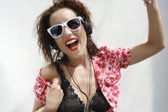 Summer fun dance girl 1 Royalty Free Stock Photo