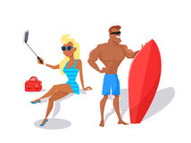Summer Fun and Entertainments Illustration Royalty Free Stock Photography