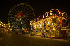 Summer fun fair in Düsseldorf Royalty Free Stock Photography