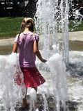 Summer fun in the fountain royalty free stock photography