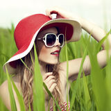 Summer fun girl Stock Images