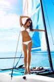 Summer Fun. Happy Woman Enjoying Holidays Travel Vacation. Leisu Royalty Free Stock Photo