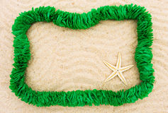 Summer fun holiday border Stock Image