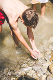 Summer fun at little creek Royalty Free Stock Images