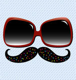 Summer Fun Mustache Stock Images