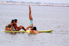 Summer Fun on the paddle board Royalty Free Stock Photos