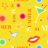 Summer fun pattern. Seamless pattern with elements of summer party Stock Photography