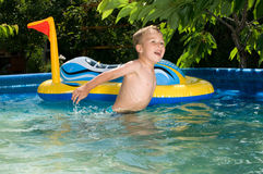 Summer fun in the pool Royalty Free Stock Images