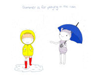 Summer fun rain Royalty Free Stock Images