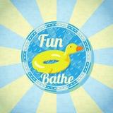 Summer fun sea rubber duck. Vector Royalty Free Stock Photography