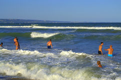 Summer fun in the sea waves Royalty Free Stock Image