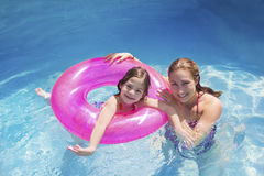 Summer Fun in the Swimming Pool Royalty Free Stock Photo