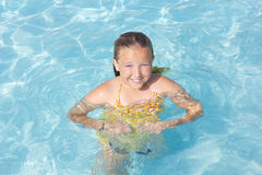 Summer Fun in the Swimming Pool Royalty Free Stock Image