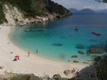 Summer fun traveling and party. Best beaches in the world. Lefkada. Greece. Summer fun traveling and party. Best beaches in the world. The best blue water in Stock Photos