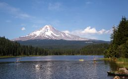 Summer fun at Trillium Lake Royalty Free Stock Photography