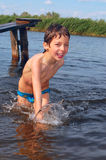 Summer fun in water Royalty Free Stock Photos