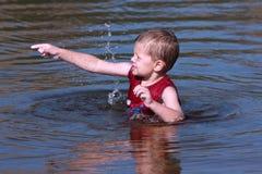 Summer fun in water stock image