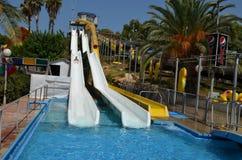 Summer fun at water park Stock Image