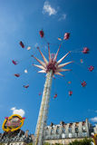 A summer funfair in the Tuileries Gardens, in the center of Par. PARIS , FRANCE - JULY 3, 2017 : Every year at the beginning of the summer, a funfair takes place stock photography