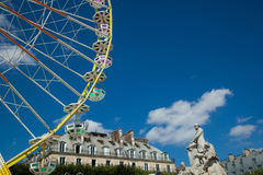 A summer funfair  in the Tuileries Gardens, in the center of Par. PARIS , FRANCE - JULY 3, 2017 : Every year at the beginning of the summer, a funfair takes Stock Images