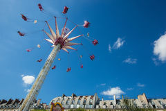 A summer funfair  in the Tuileries Gardens, in the center of Par. PARIS , FRANCE - JULY 3, 2017 : Every year at the beginning of the summer, a funfair takes Royalty Free Stock Image
