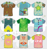Summer funky t-shirts. Stock Photography