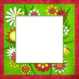 Summer funny floral cutout frame for photo or text Stock Image