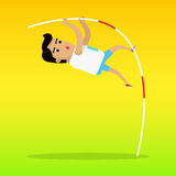 Summer Games Colorful Banner. Pole Vault Sport Stock Photography
