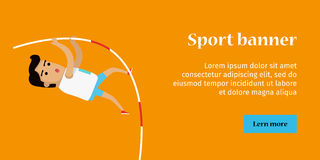 Summer Games Colorful Banner. Pole Vault Sport Stock Photos