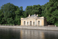 Summer garden. Small pavilion in Summer Garden, St.Petersburg, XIX century royalty free stock images