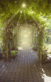 Summer garden arch Stock Photos
