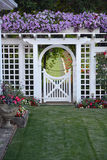 Summer garden archway Stock Photography