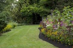 Summer garden backyard Stock Photo