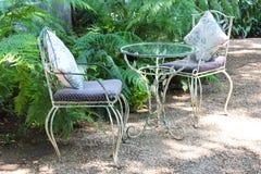 Summer garden chair Stock Photos