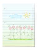 Summer garden floral background Royalty Free Stock Image