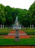 Summer garden in Saint Petersburg in summer, Russia royalty free stock photography